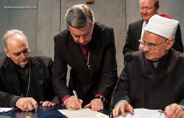 POPE FRANCIS UNITES HINDUS, MUSLIMS AND BUDDHISTS TO SIGN PACT WITHROME